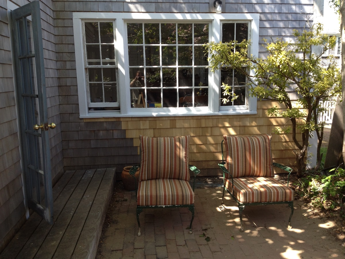 Enjoy the summer breeze on the private patio