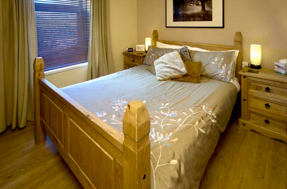 Harlech castell room, a double room with double sized shower room.