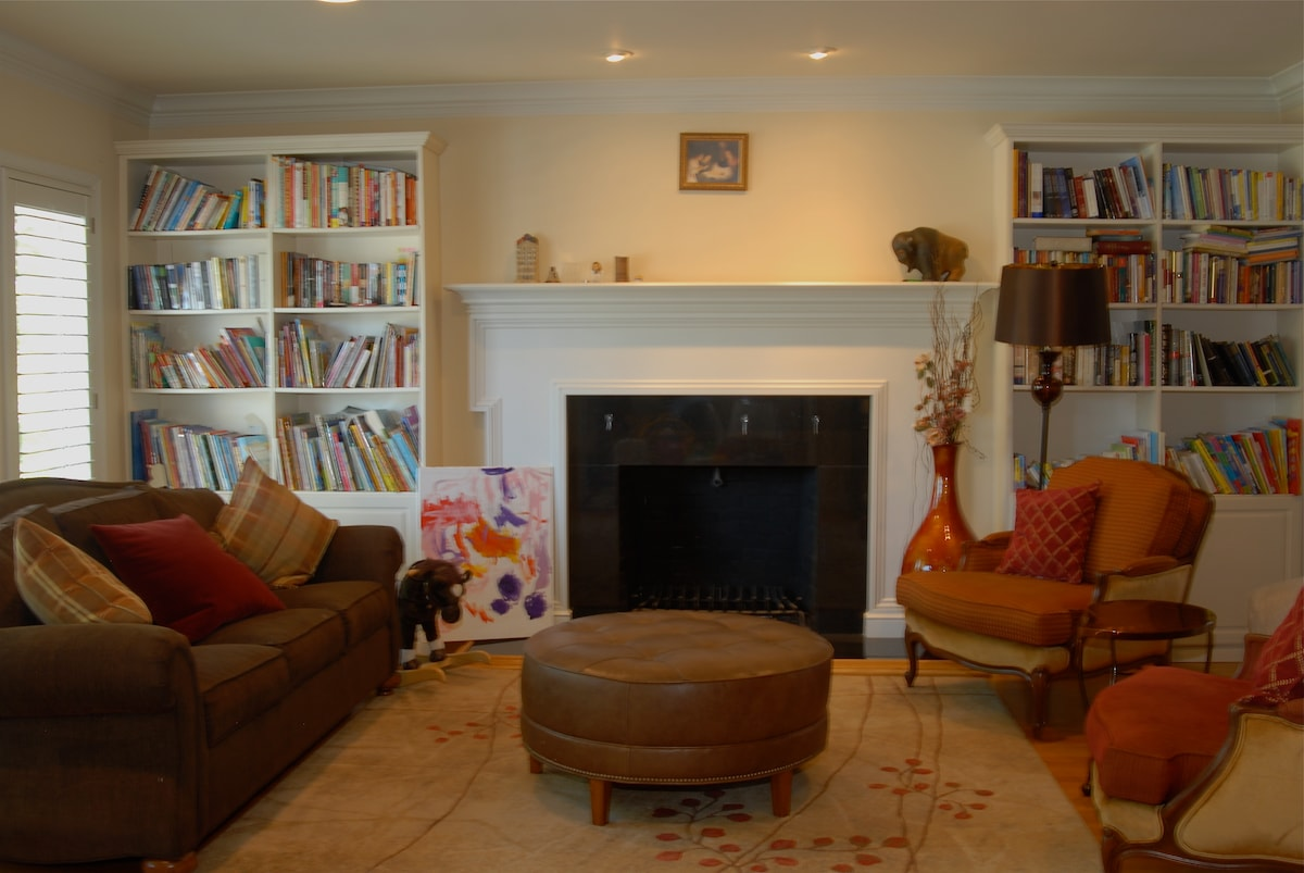 Bright and airy front living room