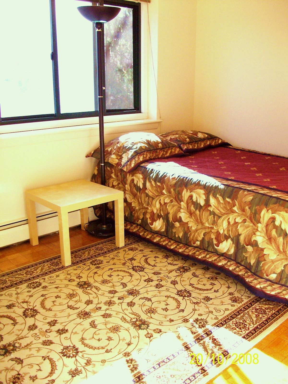 2nd Bedroom w/ 1 Double Bed, Desk, Chair, Bookcase, and Dresser, etc.