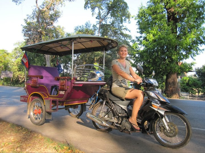 Our guest tried our purple tuk tuk