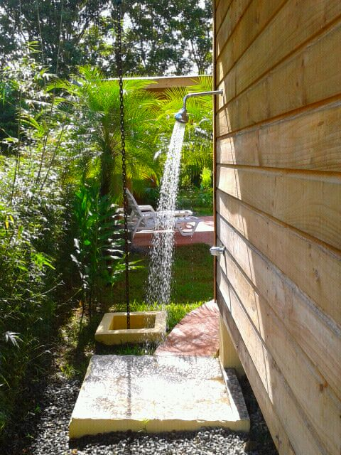 Outdoor pool shower