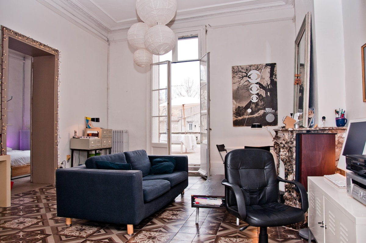 Cosy sunny flat with terrace !