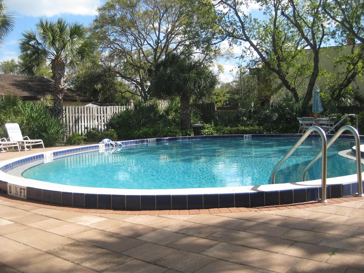 Tropical setting of Adults Only pool