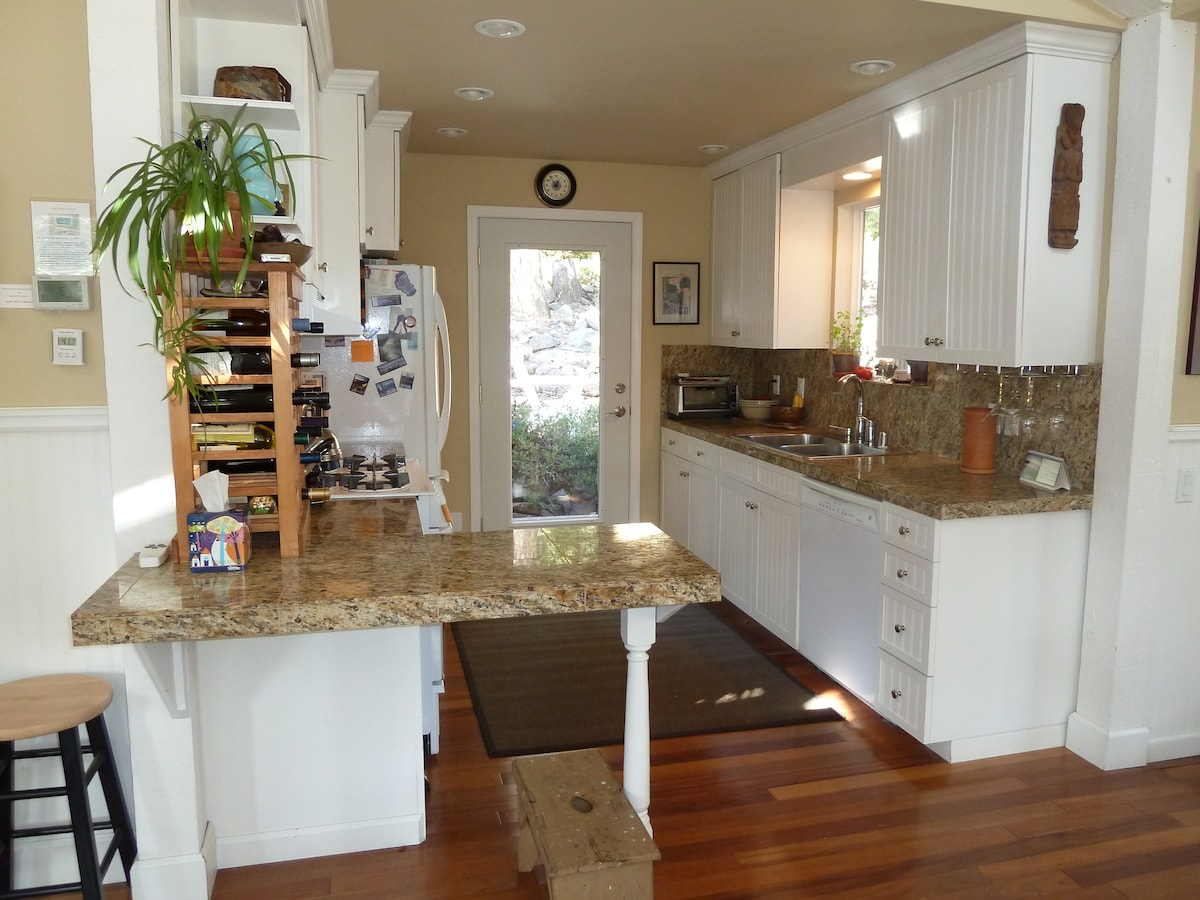 Fully equipped Kitchen to prepare gourmet meals, including spices