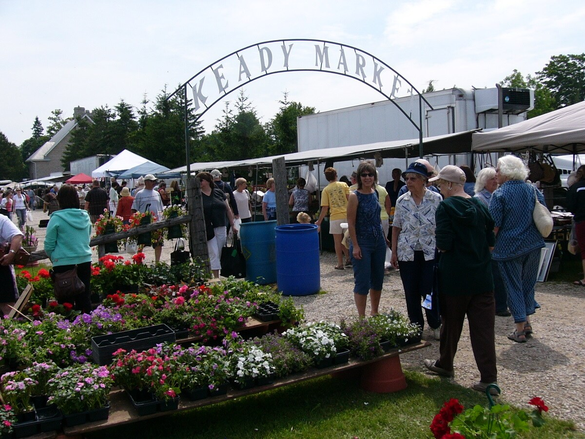Keady Market, one of the largest open air markets in Ontario, very close to our B&B