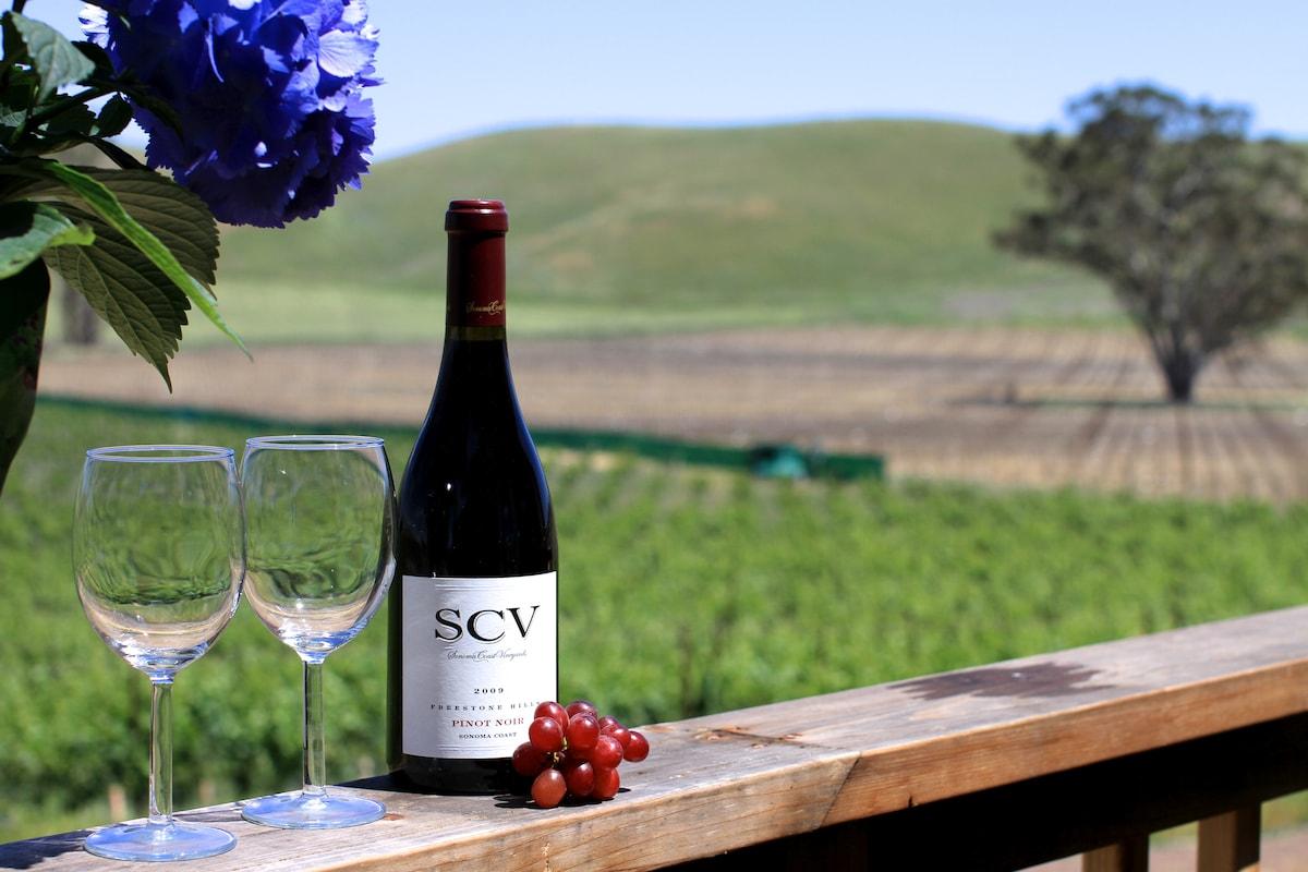 Luxe Cabin 43-acre Sonoma Vineyard
