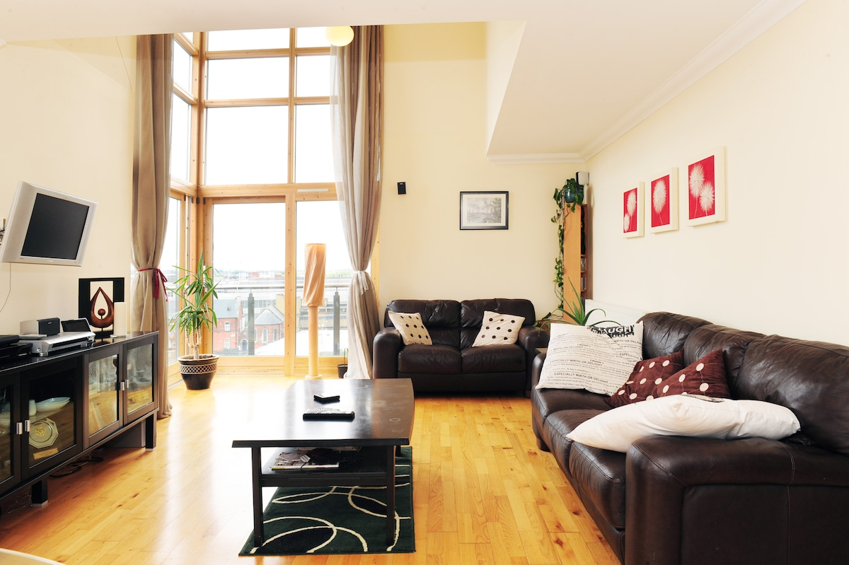 Birght and spacious open plan Penthouse