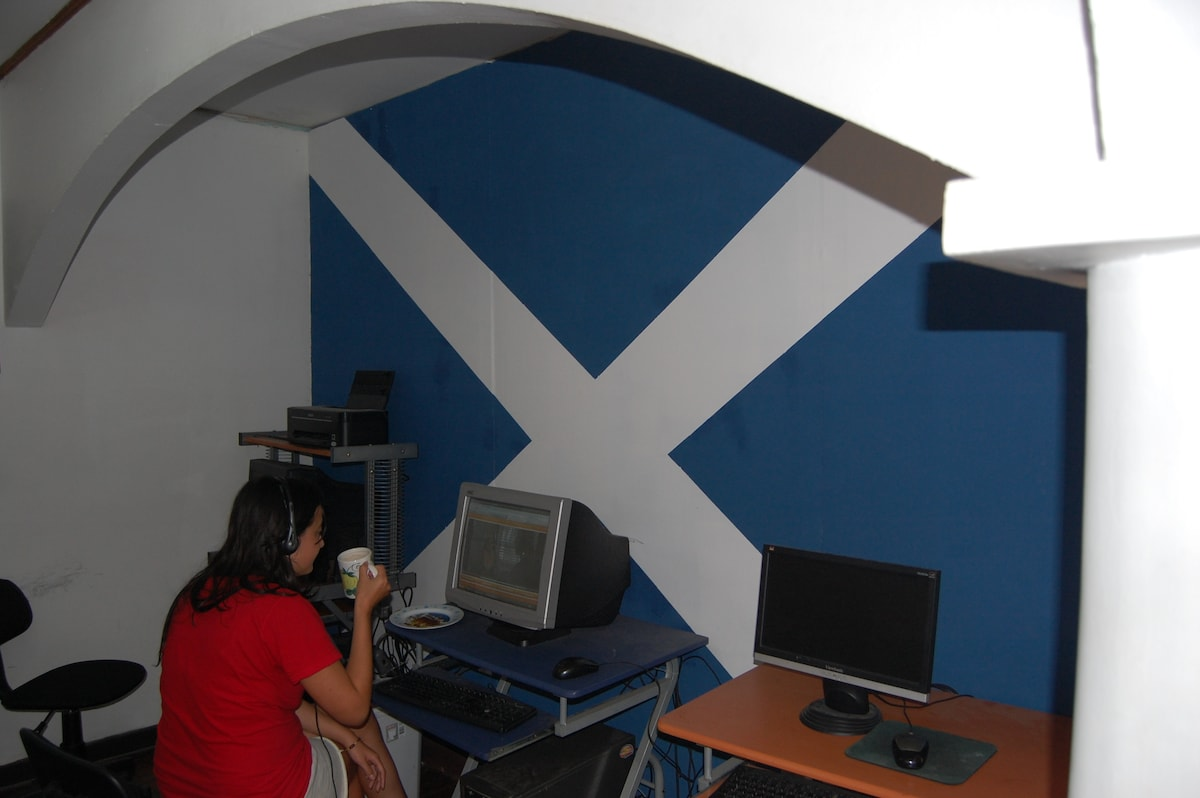 Computer Room Scottish Flag