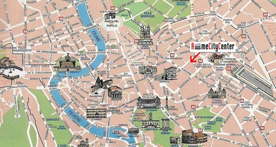 RomeCityCenter Metro+Area  Location & Map