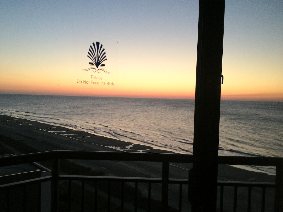 Enjoy a sunrise like this from the bedroom