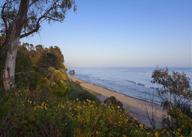 Summerland beach is a short walk from the cottage