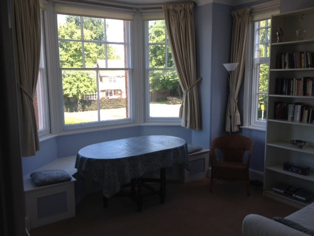 Your own window seat in the south-west facing sitting room (lovely on an afternoon and evening).
