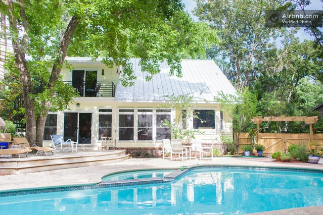 Private room, great yard with pool