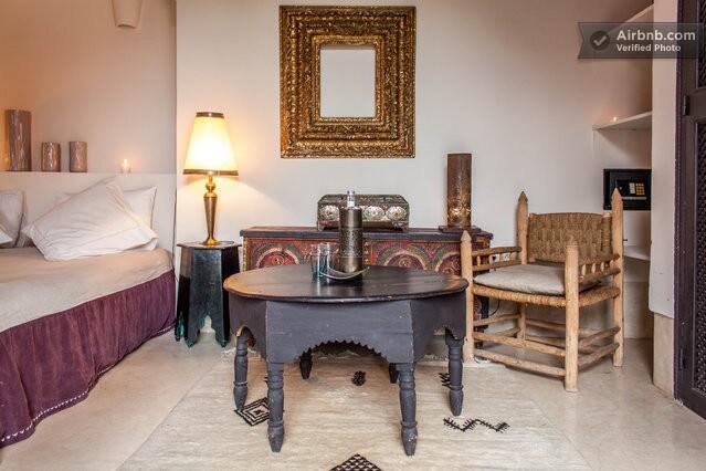 Room with chimney in riad, wi-fi