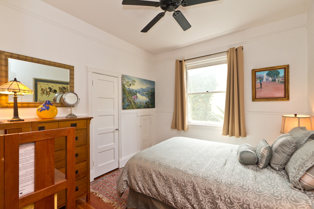 A good night's sleep comes easily in this comfortable bedroom.