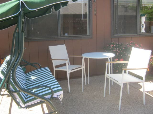 Either coffee in the morning or the stars at night - the front patio is the perfect place to experience it!