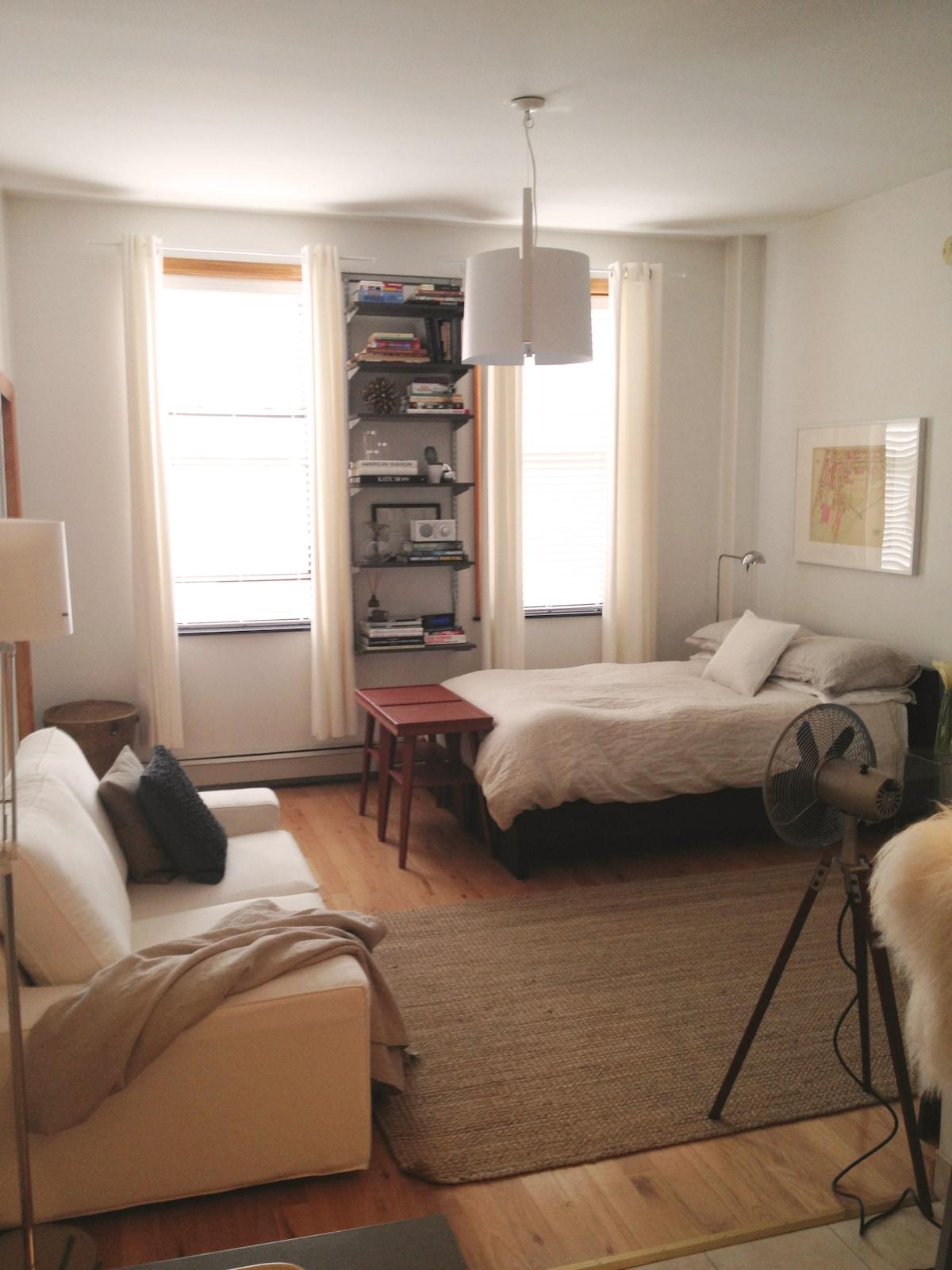 Sunny Studio in Prime Greenpoint Wb