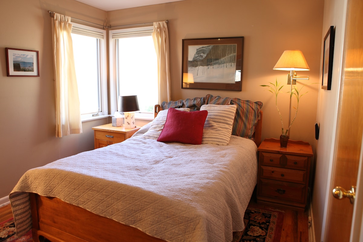 this is your room--includes a roomy closet-lots of natural light