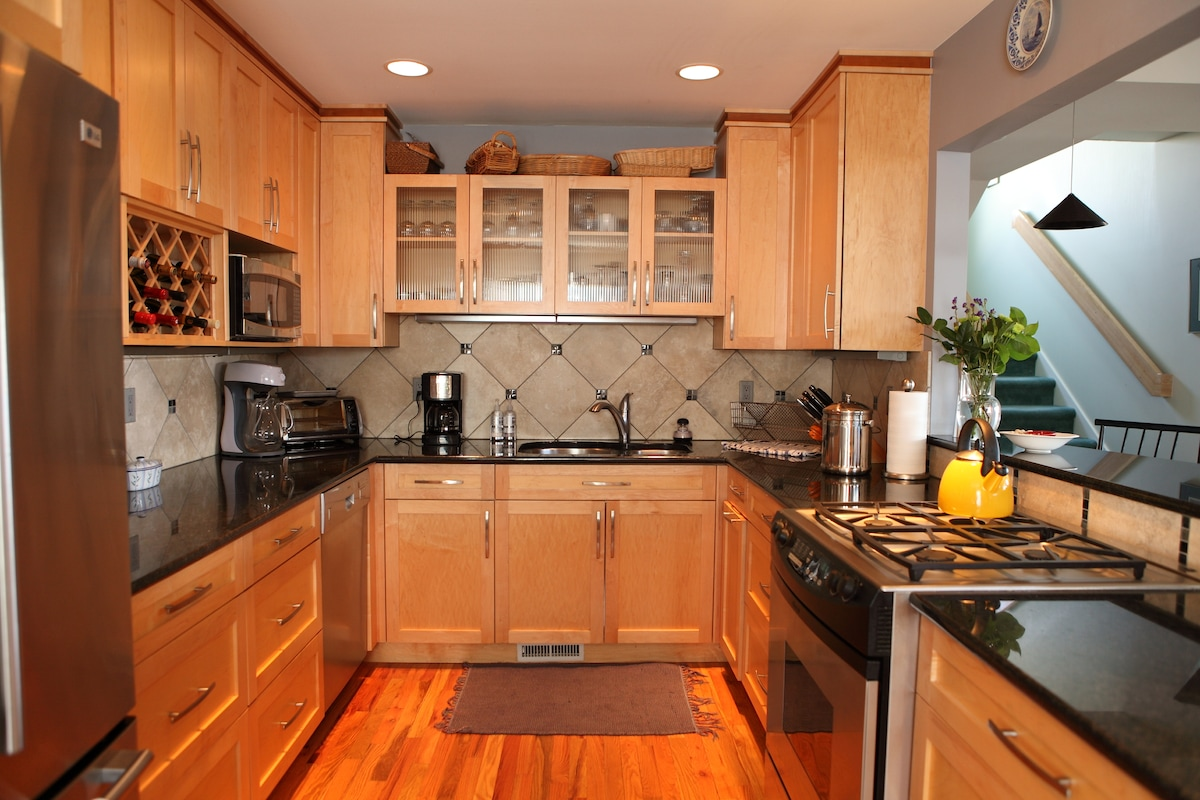 kitchen-where a continental breakfast  awaits you each morning