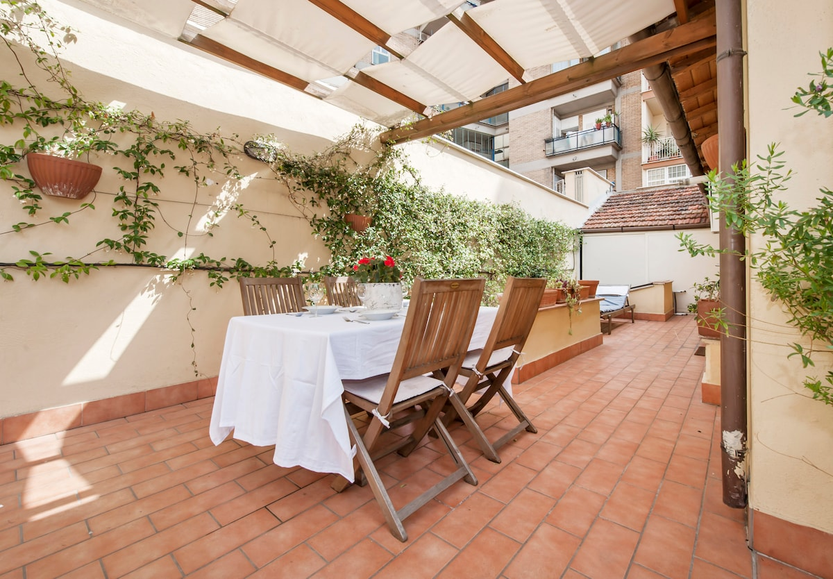 Designer cottage + terrace Pigneto