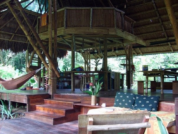 casa front porch with sitting area view to interior