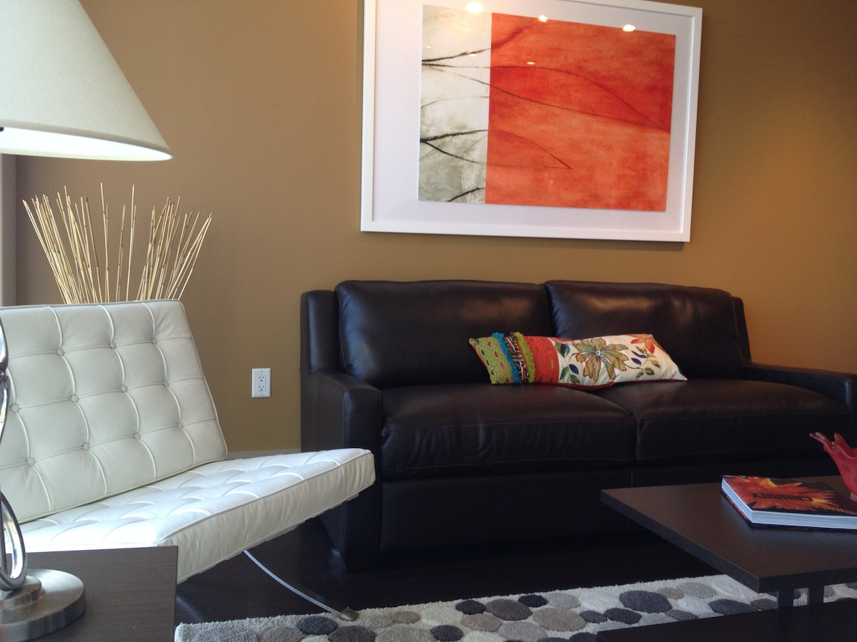 Pull out sleeper, designer accents & Custom artwork - come over!