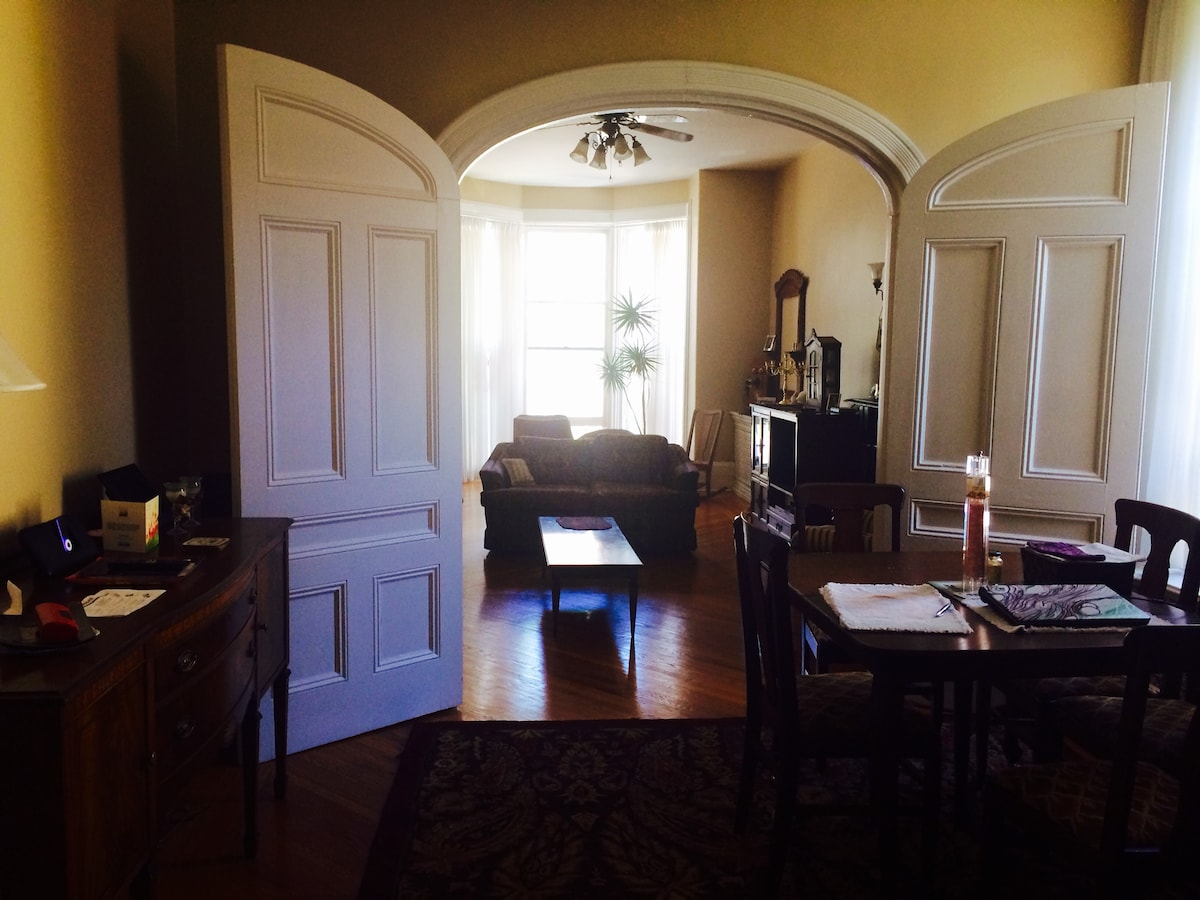 Large dining room and living room