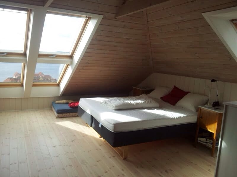 Attic room with a spectacular view