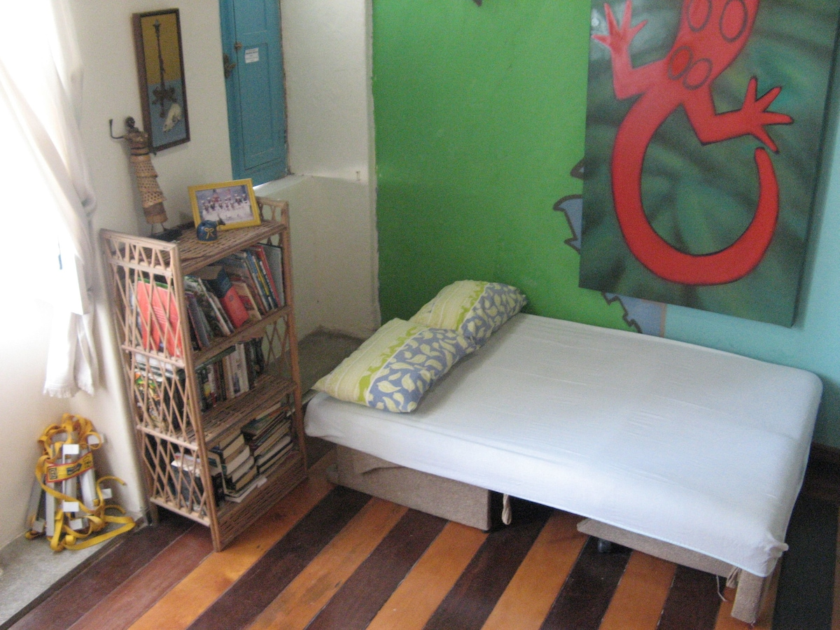 This sofa bed sleeps two and is also located in the dorm.  It is available via a separate listing.