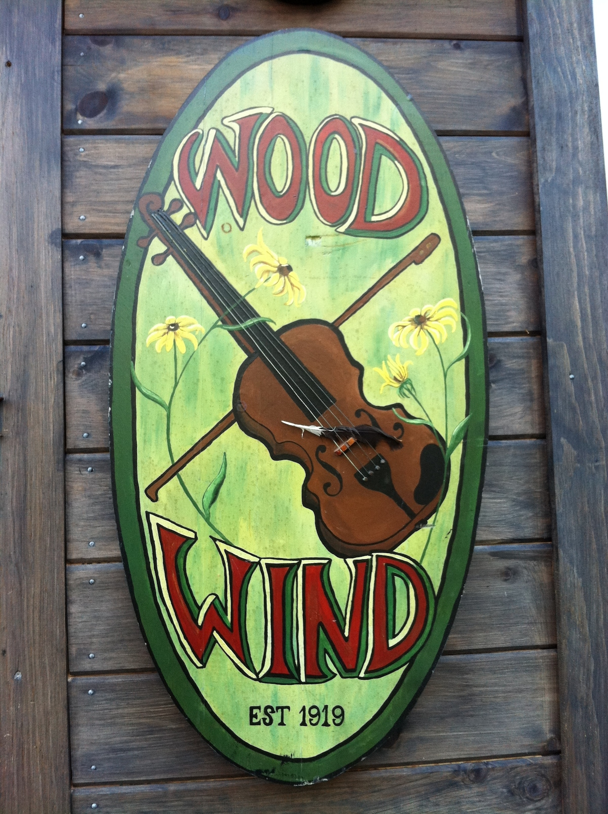 My own hand painted wood sign, inspired by my Grandfather who was first violin for the Toronto Symphony Orchestra.