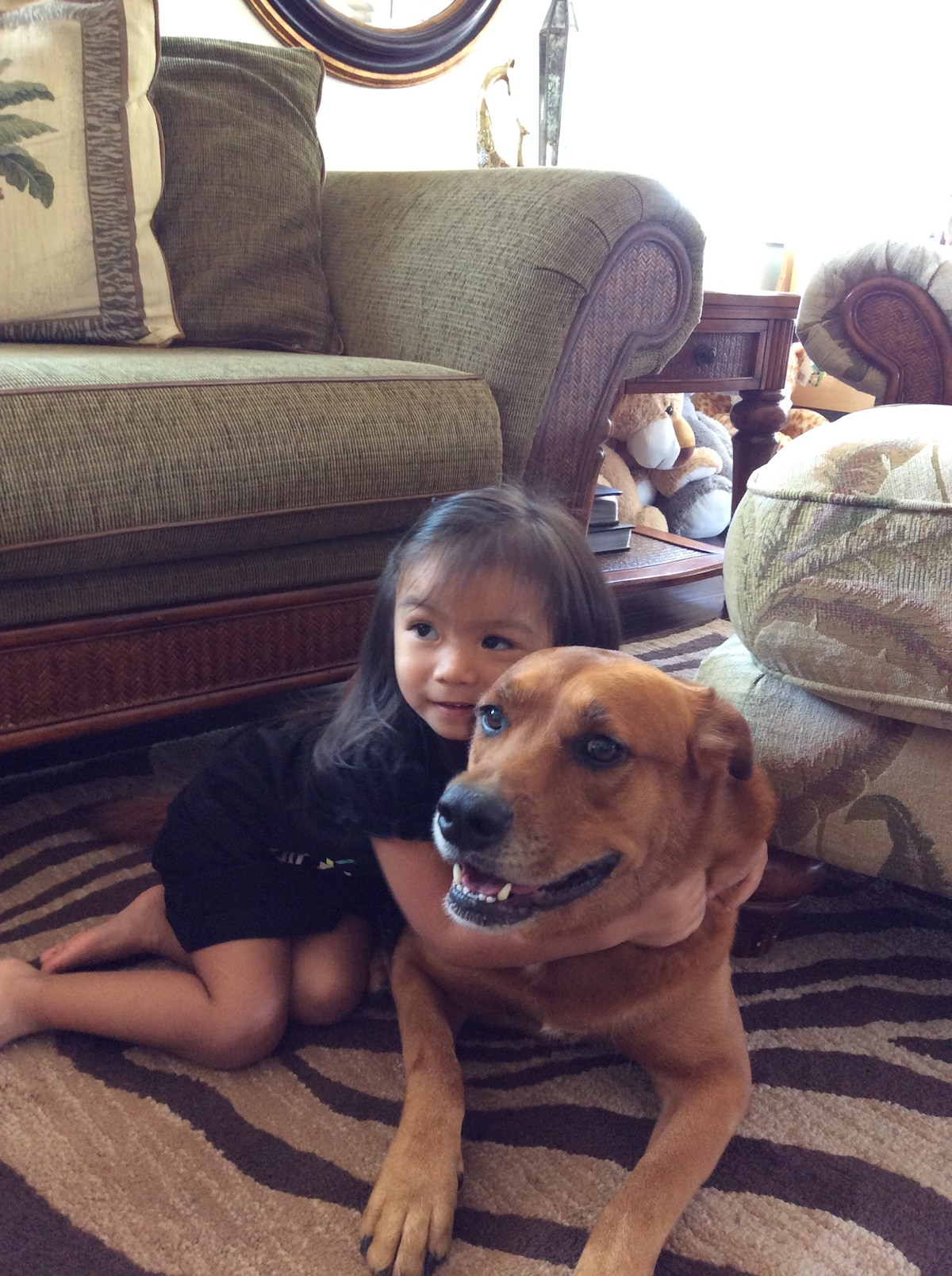 Must love dogs.  Grizzly is the family pet.