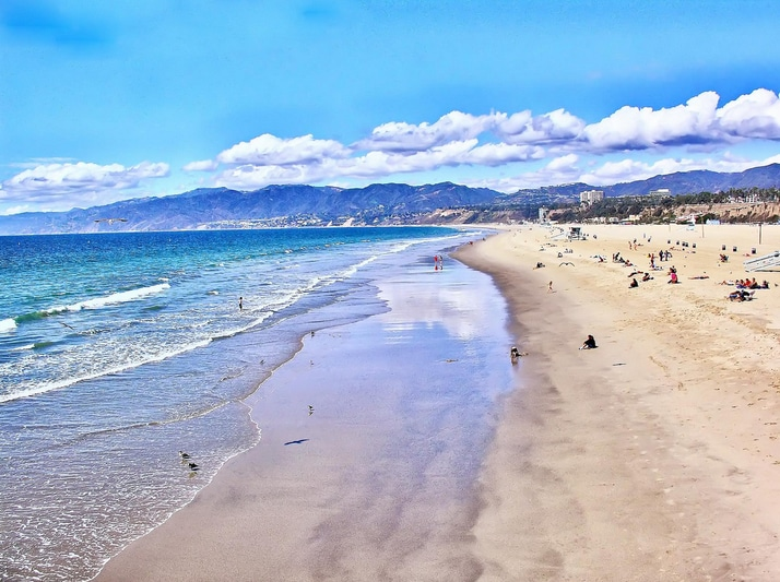largest beach in the Southbay, just steps away