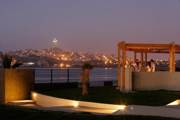Vista nocturna hacia Coquimbo