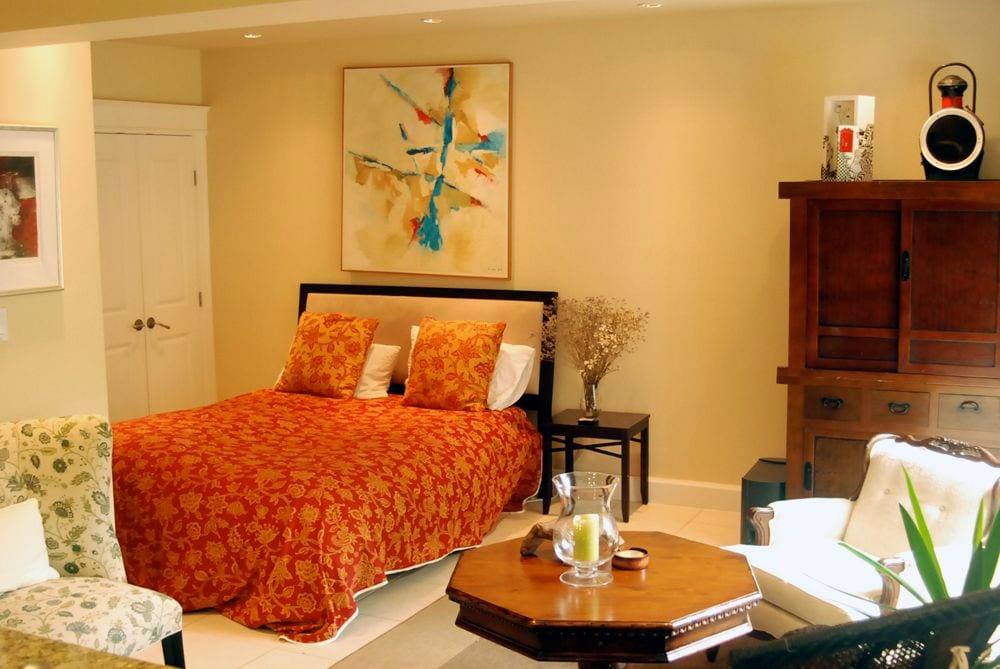bedroom studio as viewed from kitchen