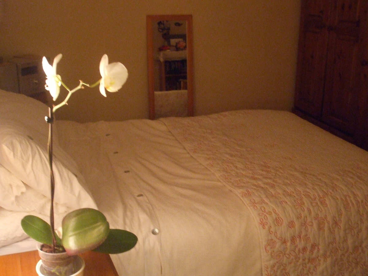 Bedroom - one double bed.