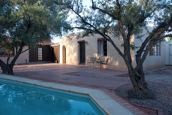 Courtyard shared with main house and pool
