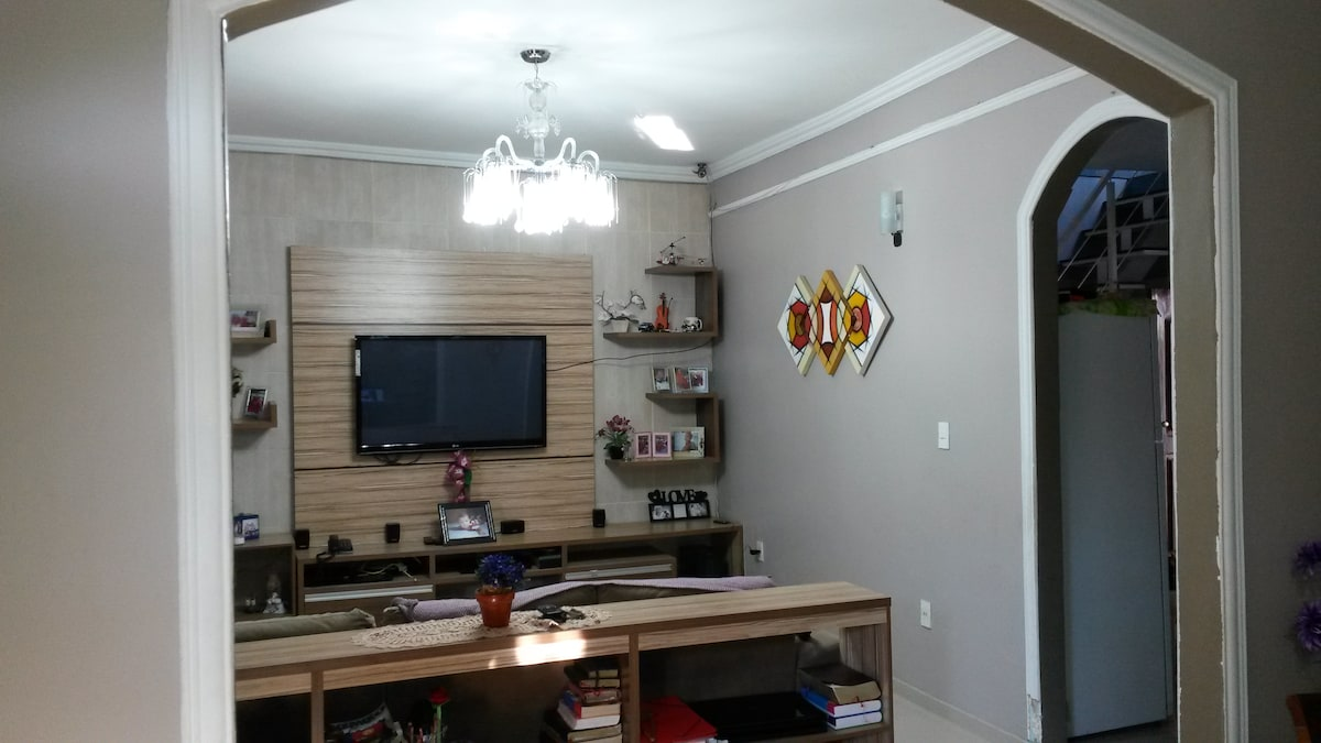 Bedroom with double bed in Manaus