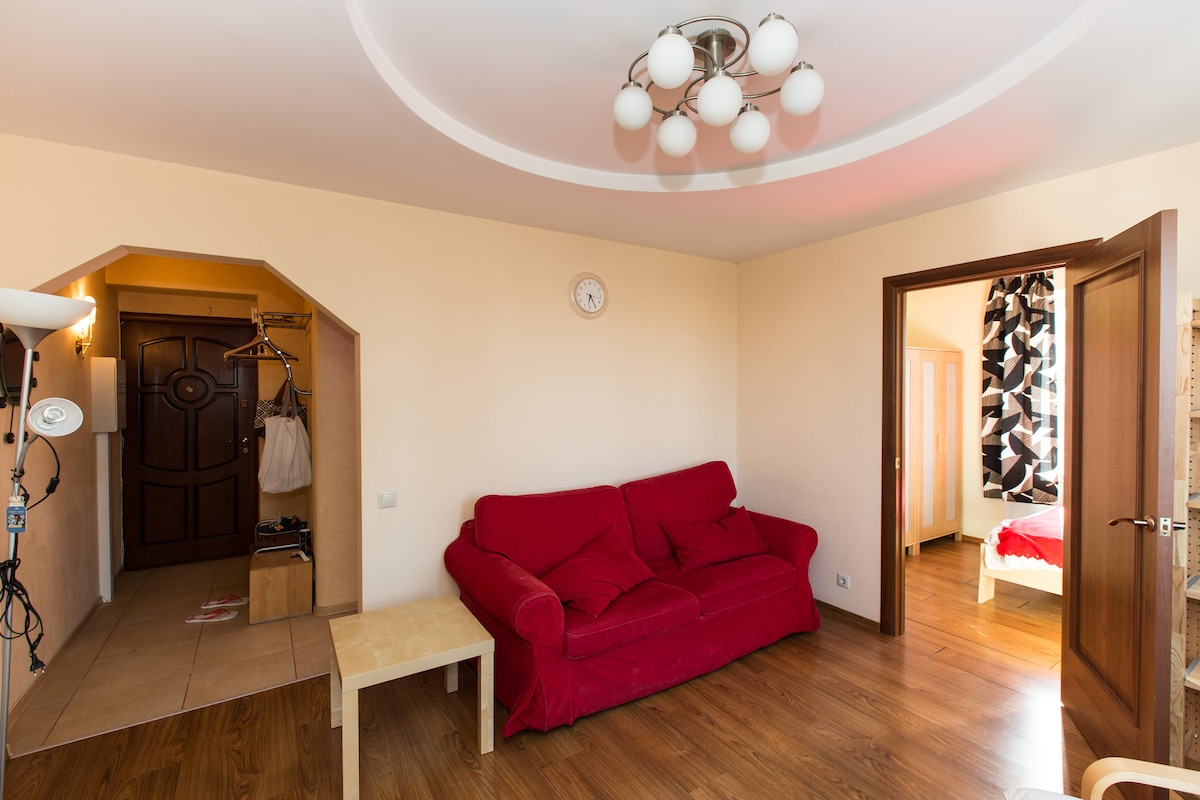 2 rooms flat in the center near zoo