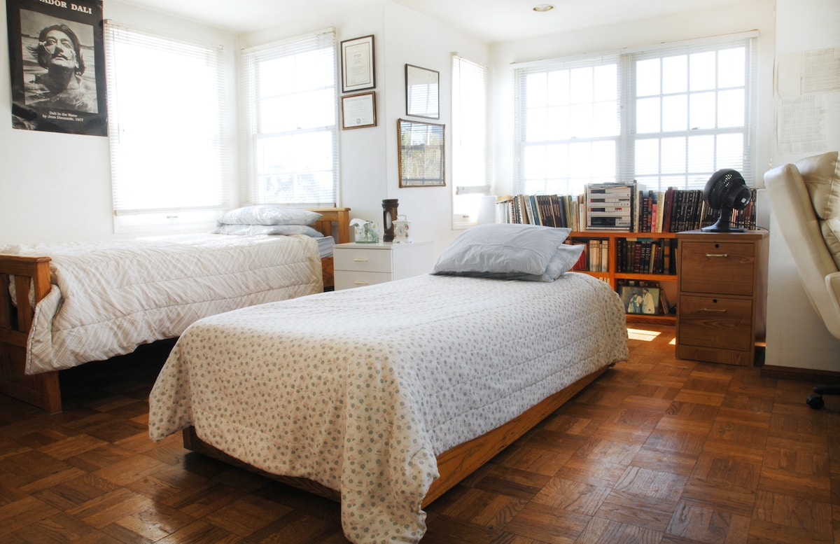 Private bedroom with great reviews