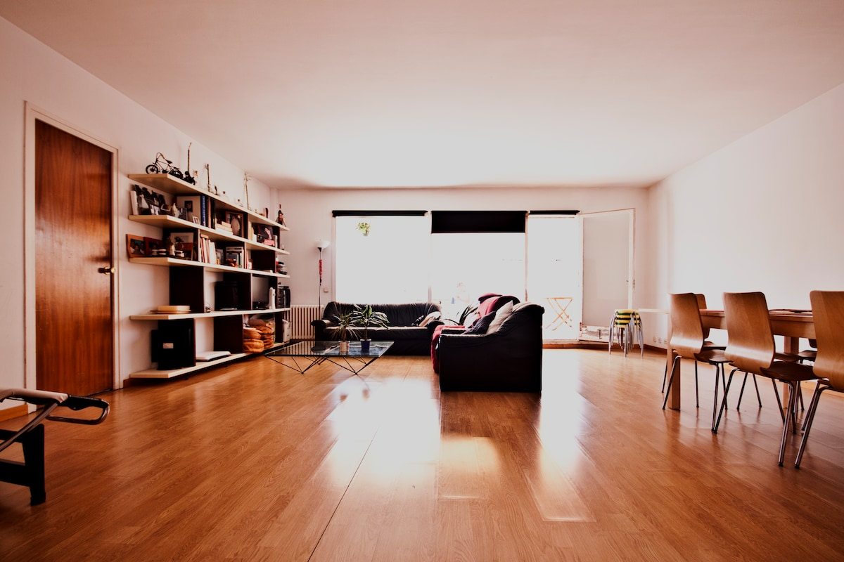 The living room...