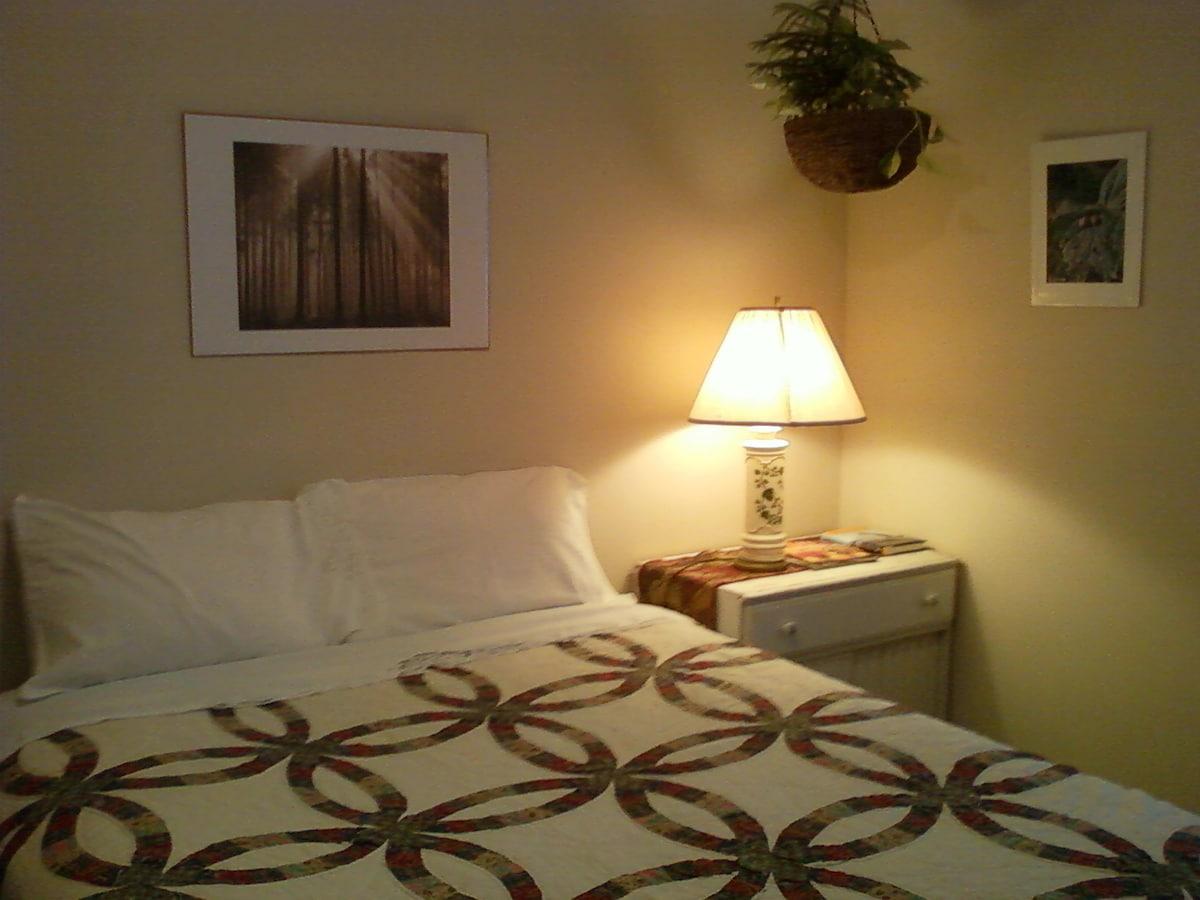 Queen Bed in your guest room.