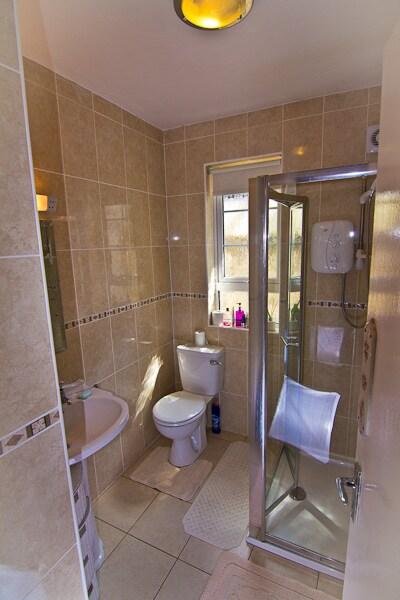 Shower, toilet and wash hand basin