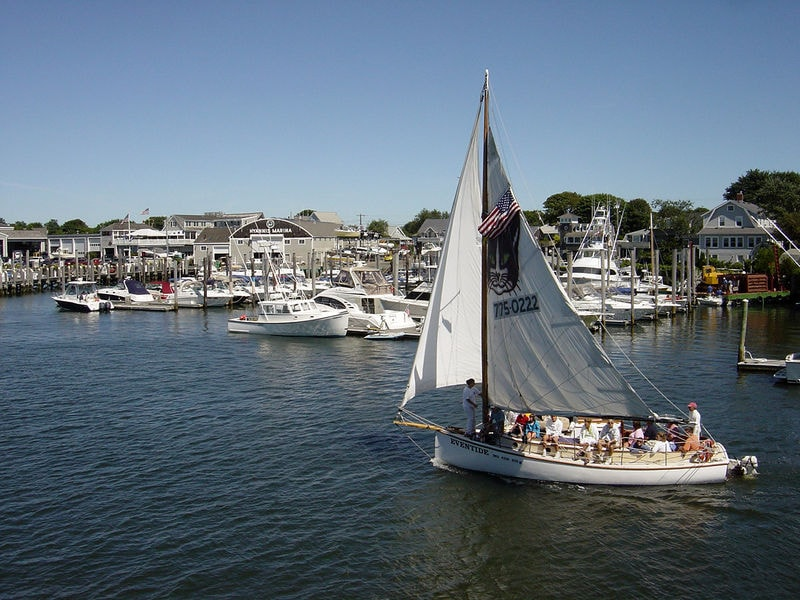 Plenty of boats to ride from Hyannis inner Harbor out into Lewis Bay and Nantucket Sound.