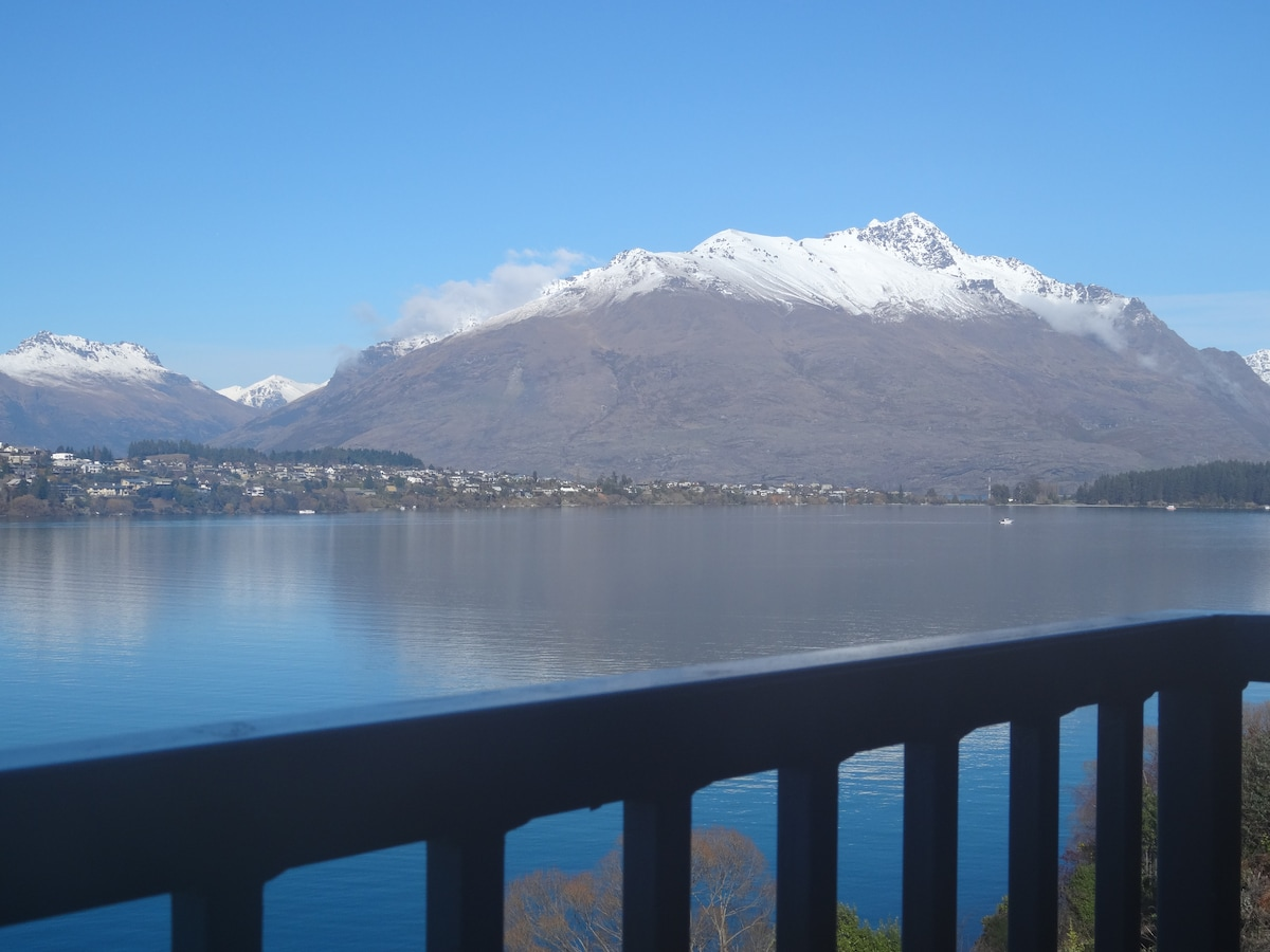 View of Cecil Peak and Lake Wakatipu from the balcony