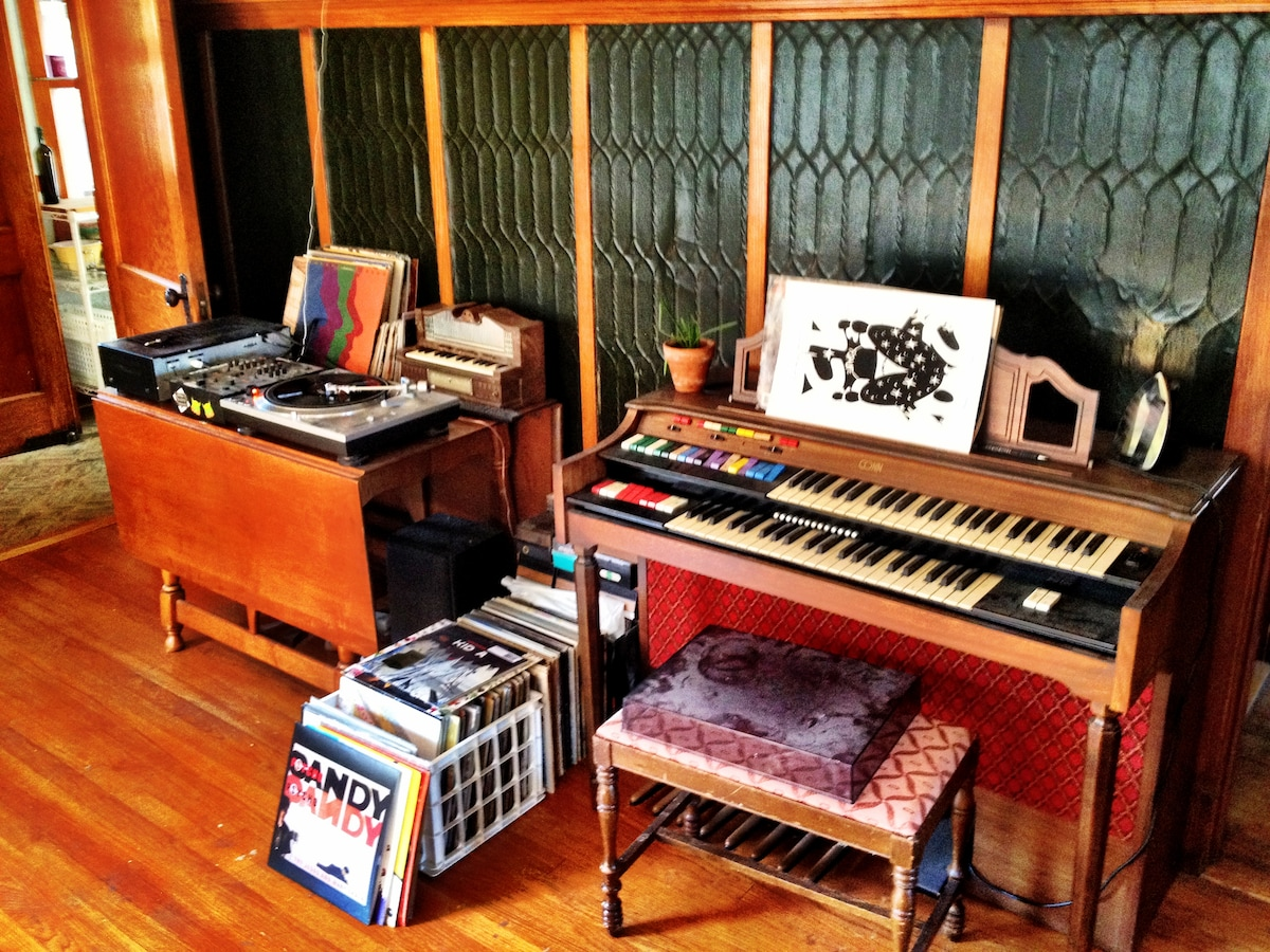 Dining room organ and record player