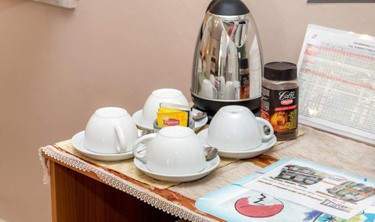 set tisante, caffe in ogni camera