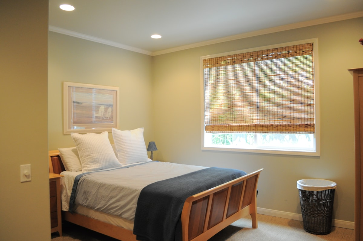 Large downstairs guest room with private bath