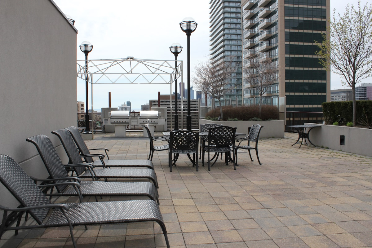 Rooftop patio and bbq