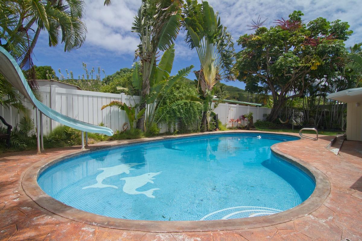 Large Sunroom, Poolside Kailua
